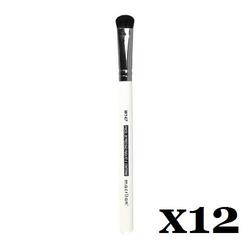 Caixa C/ 12 Und. - Pincel W147 profissional de Precisão para Pó e Contorno Macrilan – Linha W (big)