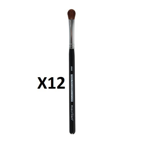 Kit c/12 Un - B906 - Pincel Profissional para Sombra e Esfumar - Linha B - Macrilan (big)