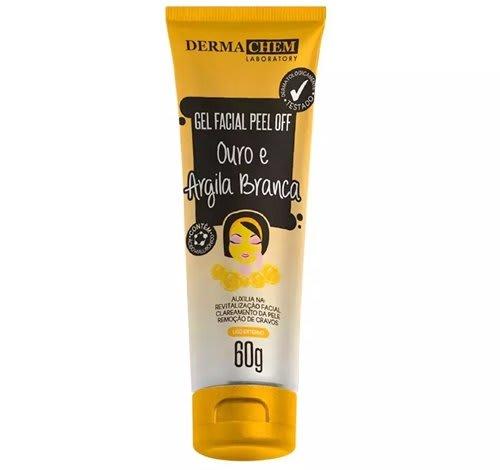 Gel Facial Peel Off Ouro e Argila Branca 60g - Derma Chem (big)