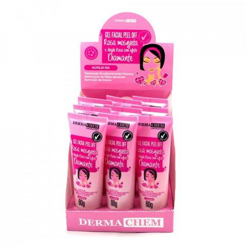 Box c/9 Un - Gel Facial Peel Off Rosa Mosqueta 60g - Derma Chem (big)