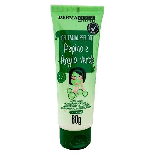 Gel Facial Peels Off Pepino e Argila Verde 60g - Derma Chem (big)