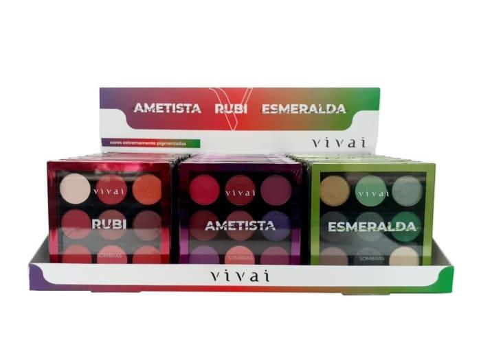 Box c/24  Un - Paleta de Sombra 9 Cores - Vivai - 4034.9.1 (big)