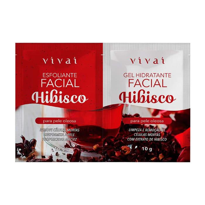 Sachê Duplo Gel Esfoliante e Tratamento Facial Hibisco - Vivai - 5054.5.1 (big)