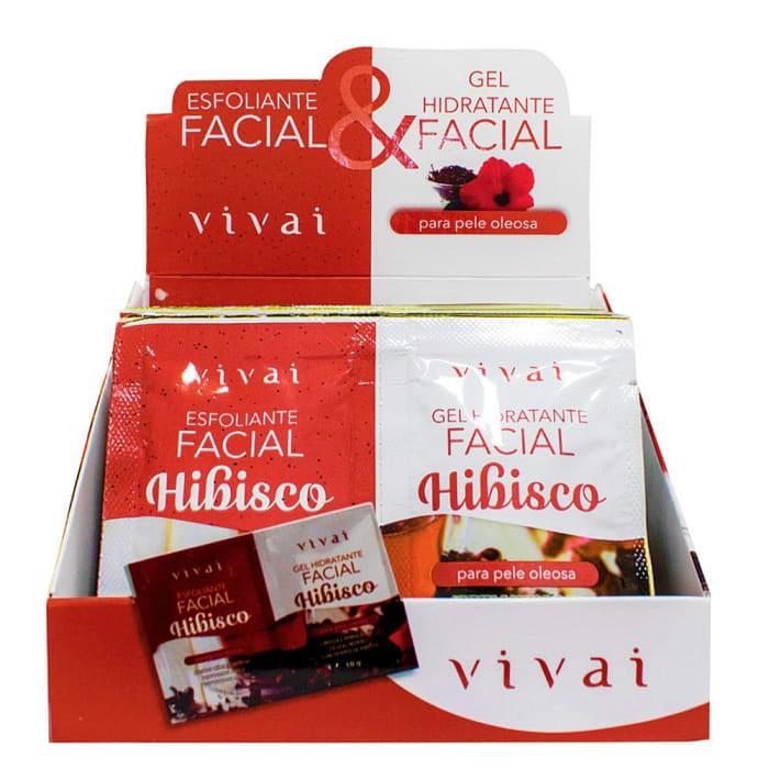 Box c/24 Un - Sachê Duplo Gel Esfoliante e Tratamento Facial Hibisco - Vivai - 5054.5.1 (big)