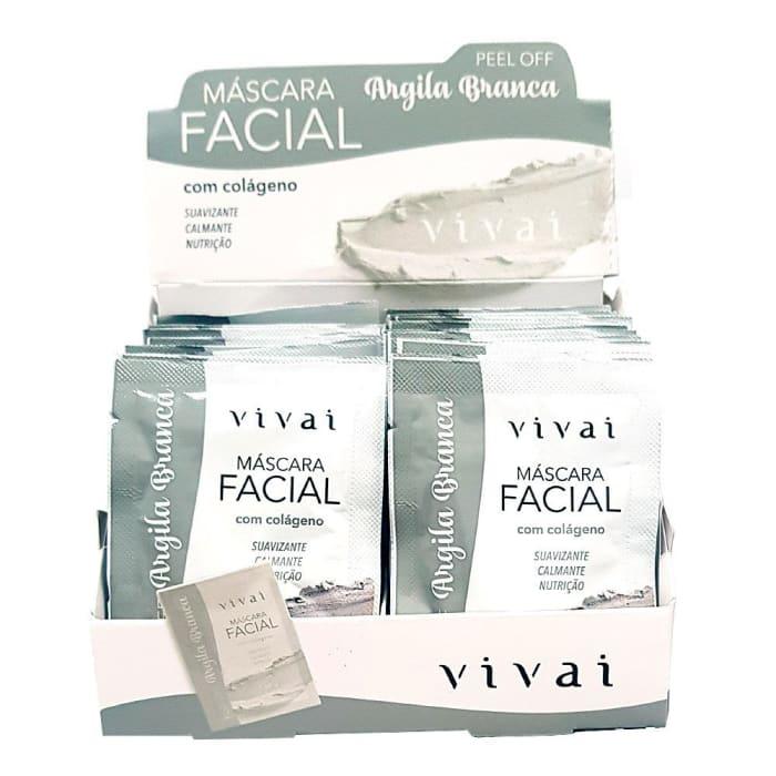 Box c/48 Un - Sachê Máscara Facial Argila Branca - Vivai - 5048.2.1 (big)