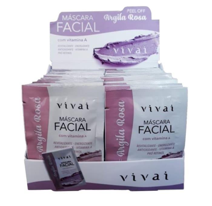 Box c/48 Un - Sachê Máscara Facial Argila Rosa - Vivai - 5047.2.1 (big)