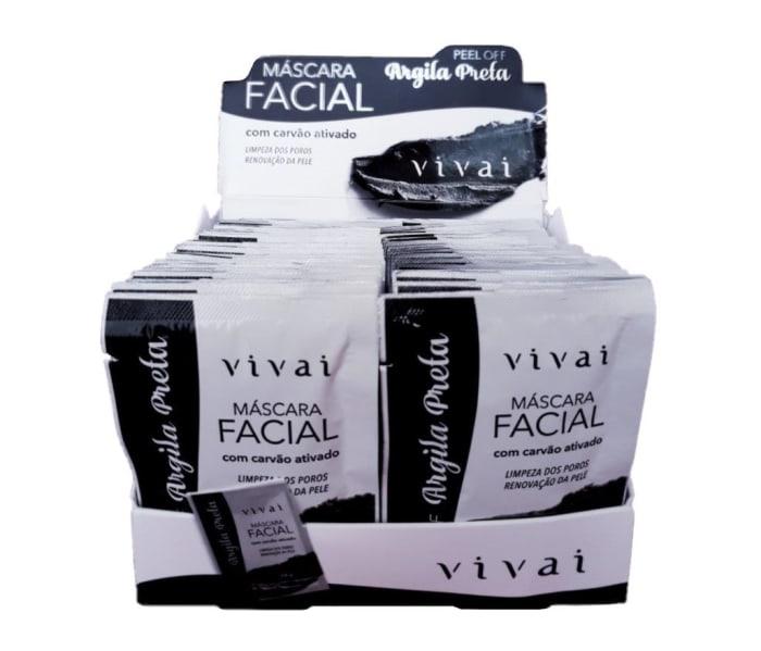 Box c/48 Un - Sachê Máscara Facial Argila Preta - Vivai - 5049.2.1 (big)