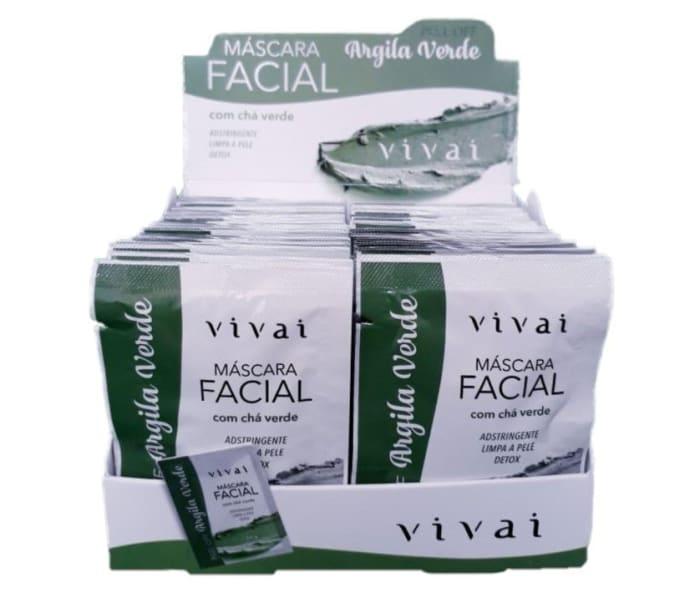 Box c/48 Un - Sachê Máscara Facial Argila Verde - Vivai - 5046.2.1 (big)