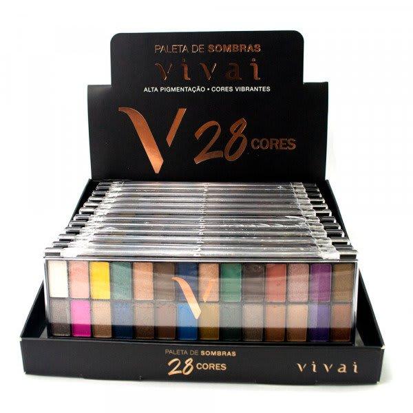 Box c/12 Un - Paleta de Sombras 28 Cores - Vivai - 2198.1.1 (big)