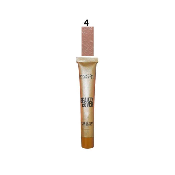 Base Líquida Facial Beauty Cover Cor 04 - Pink 21 - CS2363 (big)