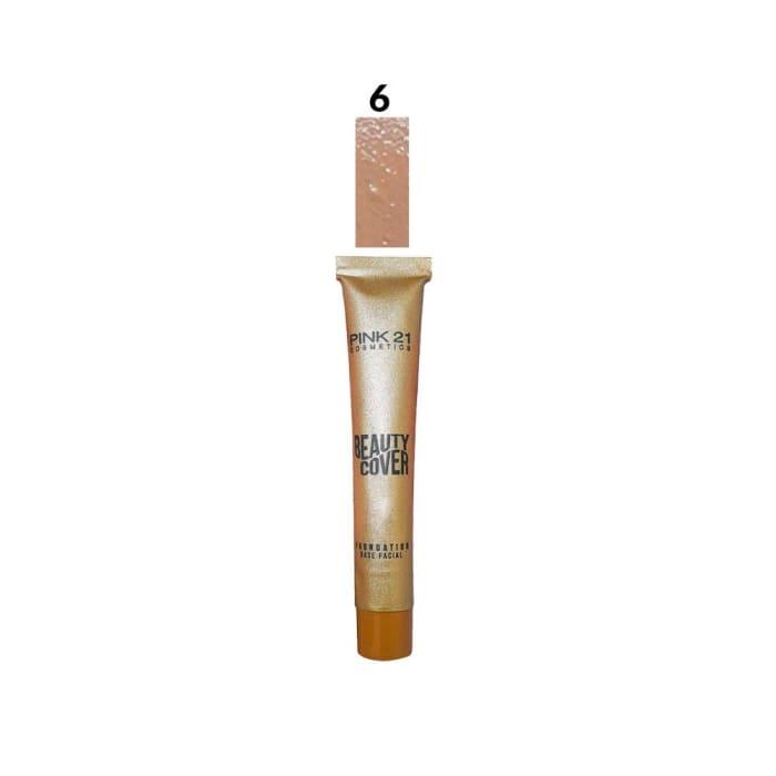 Base Líquida Facial Beauty Cover Cor 06 - Pink 21 - CS2363 (big)