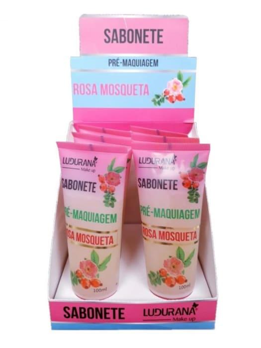 Box c/6 Un - Sabonete Pré Maquiagem Rosa Mosqueta - Ludurana - B00012 (big)