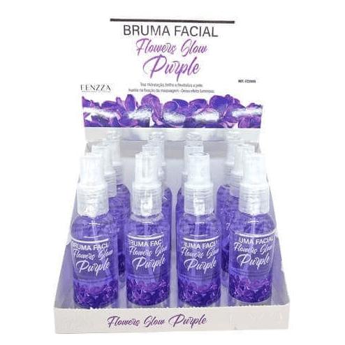 Box c/12 Un - Bruma Facial Flowers Glow Purple 120ml - Fenzza - FZ33015 (big)