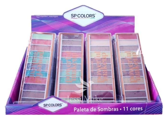 Box c/24 Un - Paleta de Sombras 11 Cores Powerful Makeup - SP Colors - SP195 (big)