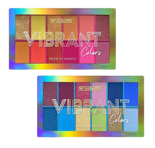 Kit c/4 Un - Paleta de Sombras 12 Cores Vibrant - SP Colors - SP174 (big)