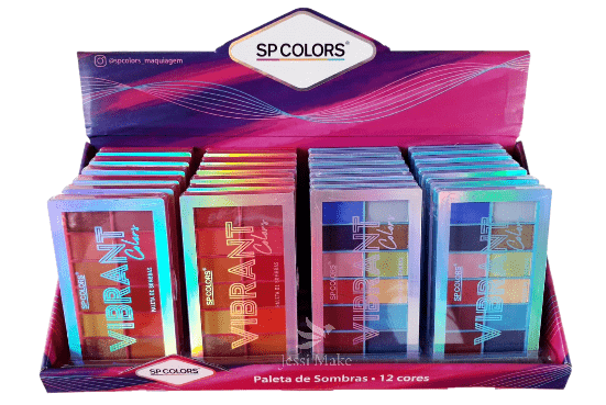 Box c/24 Un - Paleta de Sombras 12 Cores Vibrant - SP Colors - SP174 (big)