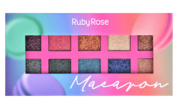 Box c/12 Un - Paleta de Sombras Essência Macaron - Ruby Rose - HB1052 (big)