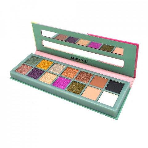Box c/12 Un - Paleta de Sombras Fashion  Style  14 Cores - SP COLORS - SP112 (big)
