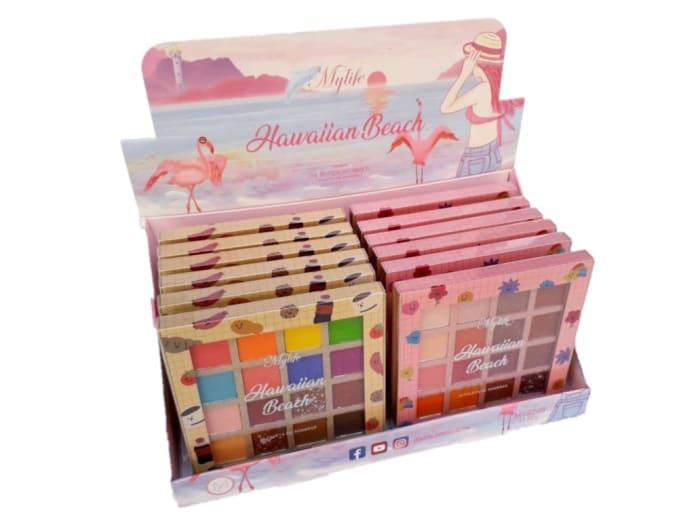 Box c/12 Un - Paleta de Sombras Hawaiian Beach - My Life - MY8246 (big)