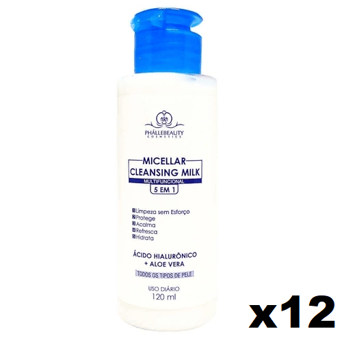 Caixa C/ 12 Und. - Demaquilante Cleansing Milk PH0116 PhálleBeauty (big)