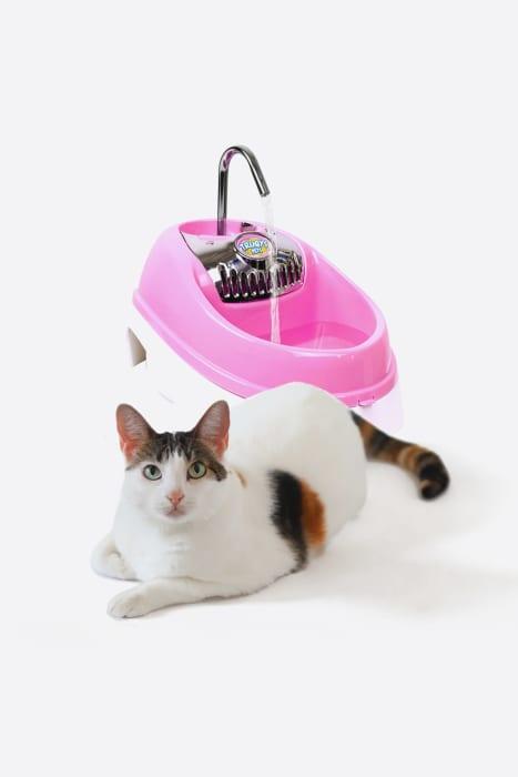 fonte-de-agua-automatica-para-gatos-caes-bebedouro-volcano-eletrica-rosa-01