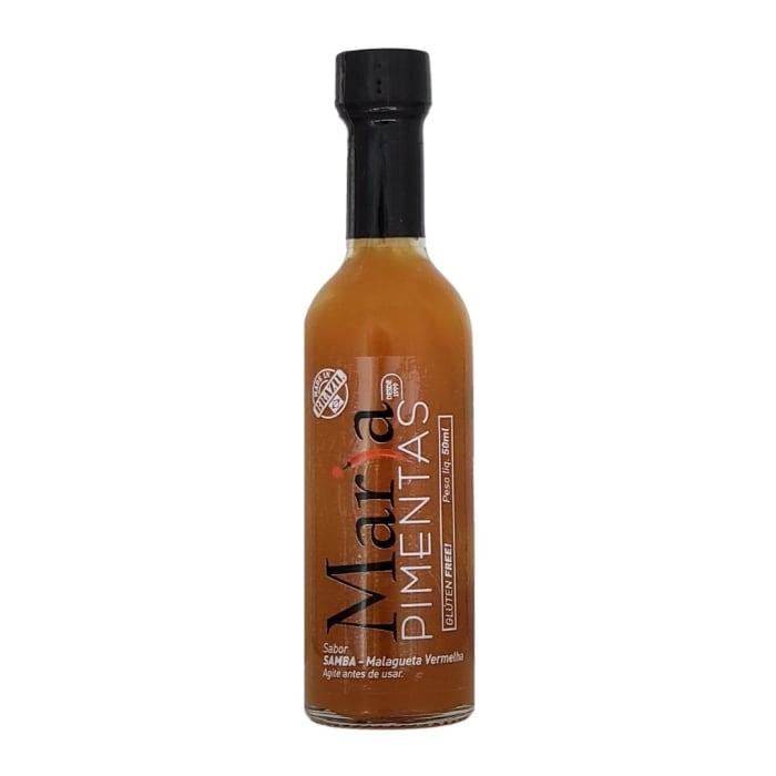 Vermelho Samba Molho de Pimenta Malagueta Vermelha (50 ml) - Maria Pimentas