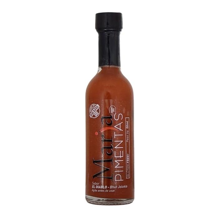 El Diablo Molho de Pimenta Bhut Jolokia (50 ml) - Maria Pimentas