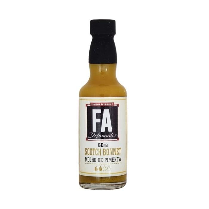 Molho de Pimenta Scotch Bonnet (60 ml) - FA Defumados