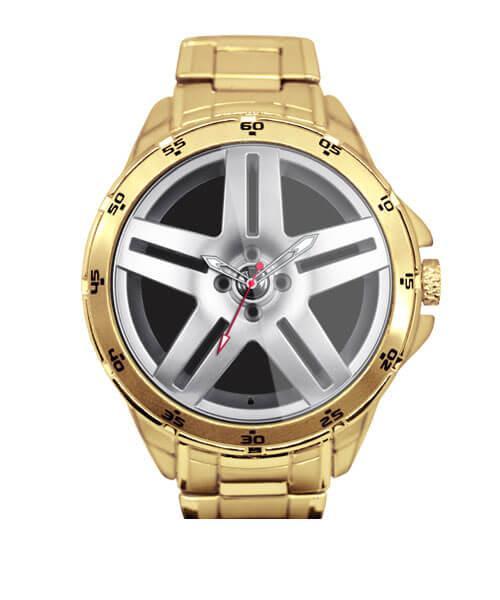 Relógio Personalizado Roda Long Beach Golf Vr6 Dourado 5776 (0)