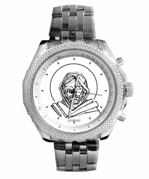 Relógio Personalizado Jesus Cristo Moderno Branco 5276 (0)