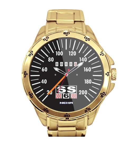 Velocimetro Carro Antigo 04  Relógio Personalizado Dourado 5776 (0)
