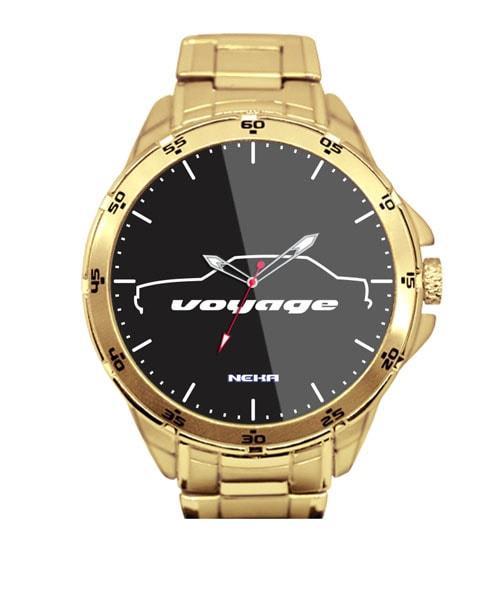 Relógio Personalizado Dourado Silhueta Voyage Quadrado 5776 (0)