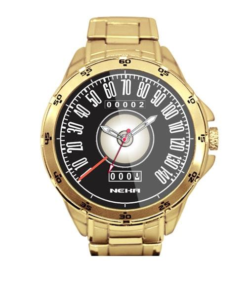 Relógio Personalizado Dourado Velocímetro Mustang Shelby 5776 (0)