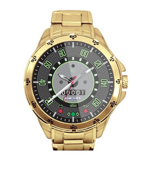 Relógio Masculino Dourado Painel Velocímetro Fusca 160km 5776 (0)