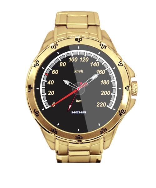 Velocímetro Carro Antigo 11 Relógio Personalizado Dourado 5776 (0)