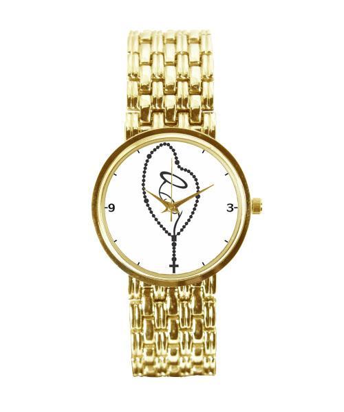 Relógio Feminino Dourado Terço 3330 (0)