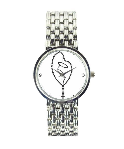Relógio Feminino Cromado Terço 3330 (0)