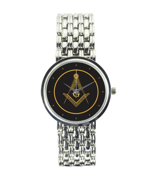 Relógio Feminino Cromado Maçonaria 3330 (0)