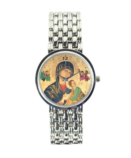 Nossa Senhora do Perpétuo Socorro Relógio Personalizado Cromado 3330 (0)