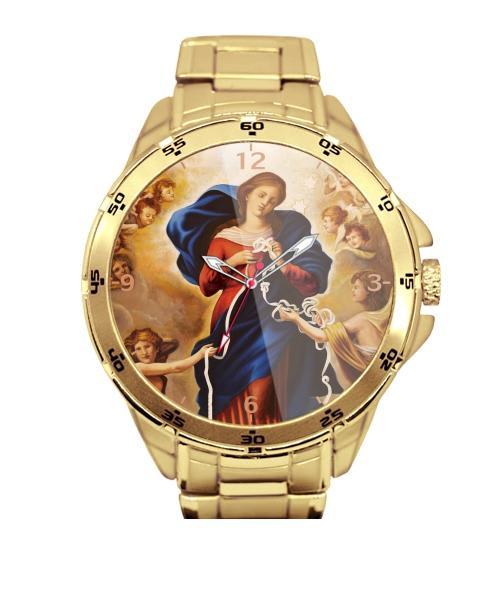 Nossa Senhora Desatadora dos Nós Relógio Personalizado Dourado 5776 (0)