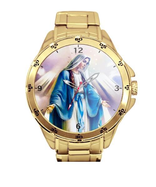 Nossa Senhora das Graças Relógio Personalizado Dourado 5776 (0)