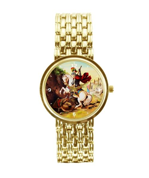 São Jorge Relógio Personalizado Feminino Dourado 3330 (0)