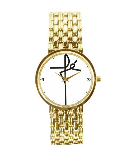 Relógio Personalizado Fé Feminino Dourado 3330 (0)
