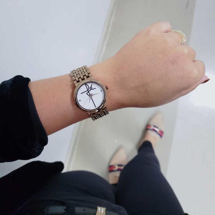 Relógio Personalizado Fé Feminino Cobre 3330 (0)