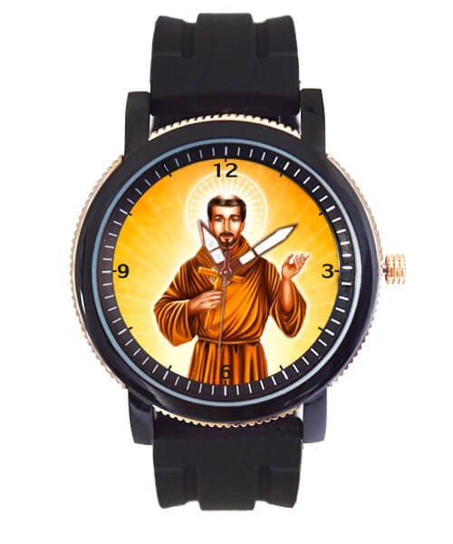 São Francisco de Assis Relógio Personalizado Pulseira de Borracha 5036 (0)