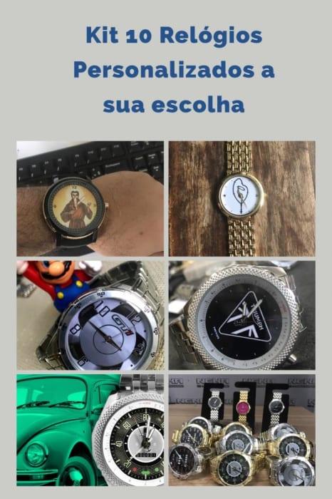 Kit 10 Relógios Personalizados Qualquer Modelo  (0)