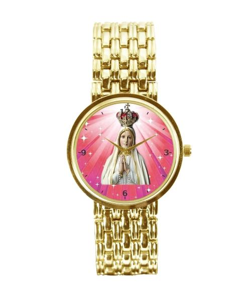 Nossa Senhora de Fátima Relógio Feminino Dourado 3330 (0)