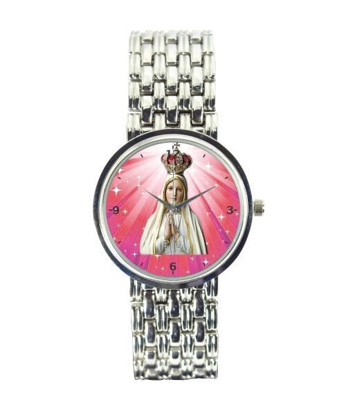 Nossa Senhora de Fátima Relógio Feminino Cromado 3330 (0)