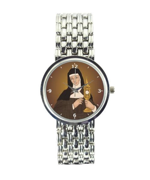 Santa Clara Relógio Personalizado Feminino Cromado 3330 (0)