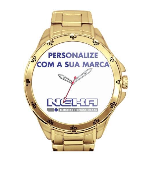Relógio Corporativo Dourado 5776 (0)